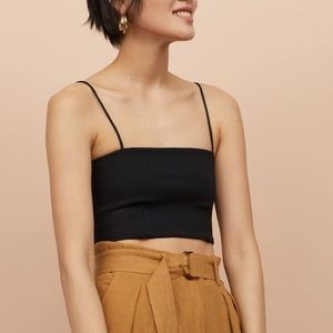 Crop Badeau Top with Spaghetti Straps